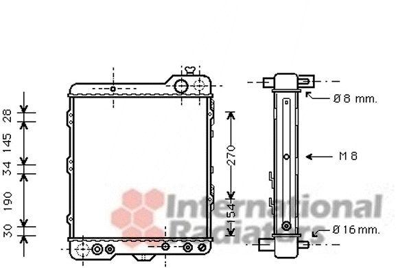 Radiateur, refroidissement du moteur - VAN WEZEL - 03002060