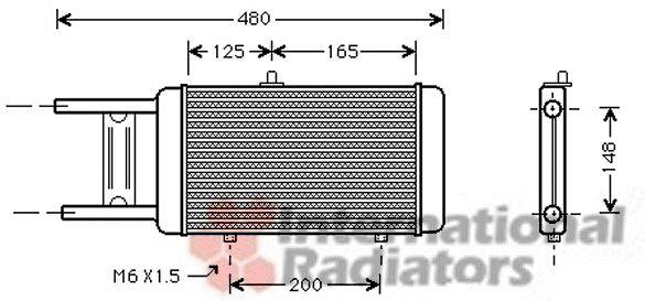 Radiateur, refroidissement du moteur - VAN WEZEL - 03002066