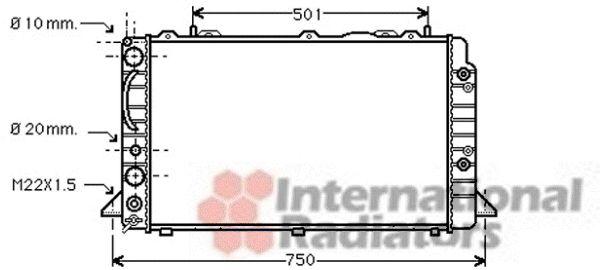 Radiateur, refroidissement du moteur - VWA - 88VWA03002090