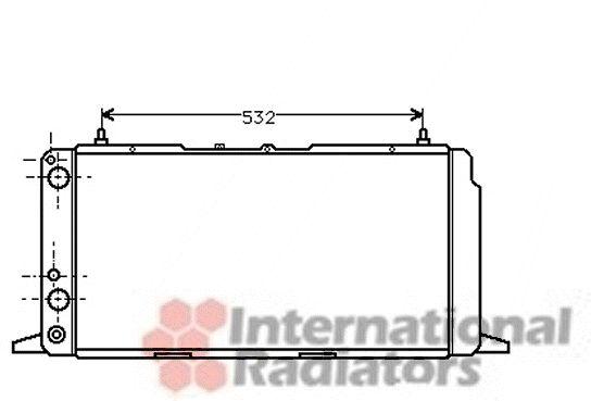 Radiateur, refroidissement du moteur - VAN WEZEL - 03002091