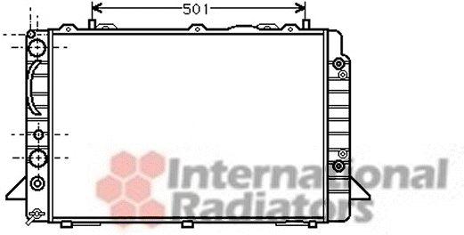 Radiateur, refroidissement du moteur - VAN WEZEL - 03002093