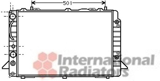 Radiateur, refroidissement du moteur - VWA - 88VWA03002093