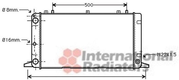 Radiateur, refroidissement du moteur - VAN WEZEL - 03002098