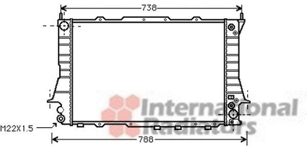 Radiateur, refroidissement du moteur - VAN WEZEL - 03002101