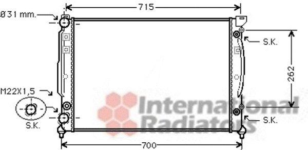 Radiateur, refroidissement du moteur - VWA - 88VWA03002109