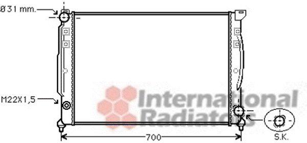 Radiateur, refroidissement du moteur - VAN WEZEL - 03002110