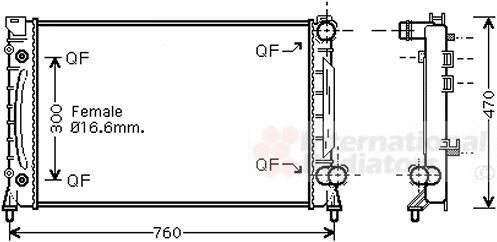 Radiateur, refroidissement du moteur - VWA - 88VWA03002158