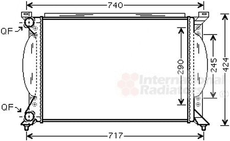 Radiateur, refroidissement du moteur - VWA - 88VWA03002195