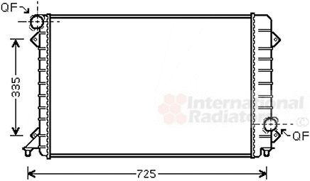 Radiateur, refroidissement du moteur - VAN WEZEL - 03002196