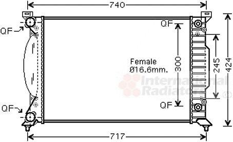 Radiateur, refroidissement du moteur - VWA - 88VWA03002202