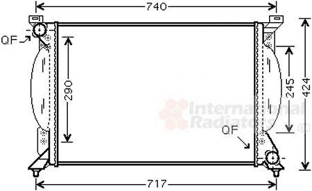 Radiateur, refroidissement du moteur - VAN WEZEL - 03002203
