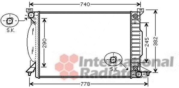 Radiateur, refroidissement du moteur - VAN WEZEL - 03002207