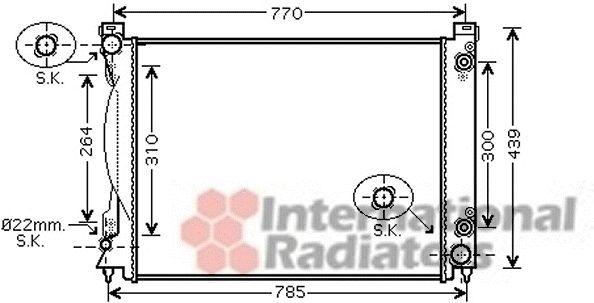Radiateur, refroidissement du moteur - VAN WEZEL - 03002231