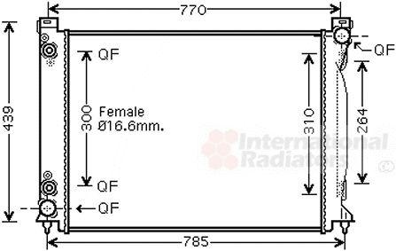 Radiateur, refroidissement du moteur - VAN WEZEL - 03002232