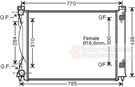 Radiateur, refroidissement du moteur - VAN WEZEL - 03002234