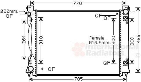 Radiateur, refroidissement du moteur - VAN WEZEL - 03002236