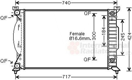 Radiateur, refroidissement du moteur - VWA - 88VWA03002241