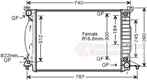 Radiateur, refroidissement du moteur - VWA - 88VWA03002244