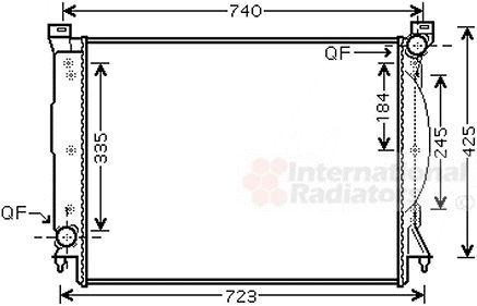 Radiateur, refroidissement du moteur - VAN WEZEL - 03002245
