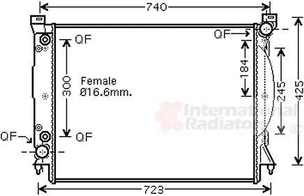 Radiateur, refroidissement du moteur - VAN WEZEL - 03002246