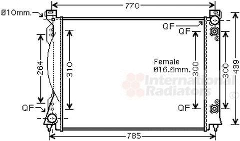 Radiateur, refroidissement du moteur - VWA - 88VWA03002253