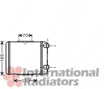 Radiateur, refroidissement du moteur - VAN WEZEL - 03002256
