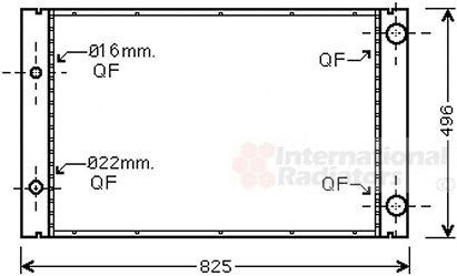 Radiateur, refroidissement du moteur - VAN WEZEL - 03002268
