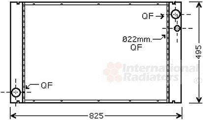 Radiateur, refroidissement du moteur - VAN WEZEL - 03002289
