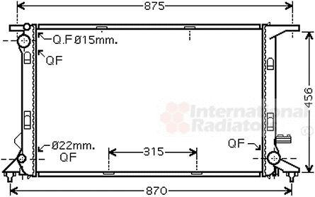 Radiateur, refroidissement du moteur - VWA - 88VWA03002290