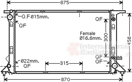 Radiateur, refroidissement du moteur - VWA - 88VWA03002291