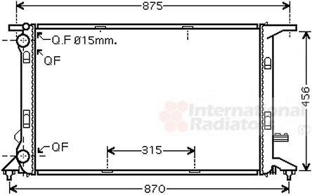 Radiateur, refroidissement du moteur - VAN WEZEL - 03002292