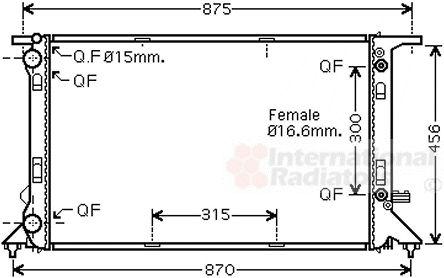 Radiateur, refroidissement du moteur - VAN WEZEL - 03002293