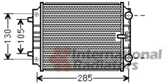 Radiateur, refroidissement du moteur - VWA - 88VWA03002299