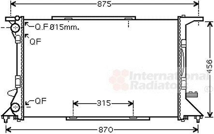 Radiateur, refroidissement du moteur - VAN WEZEL - 03002306