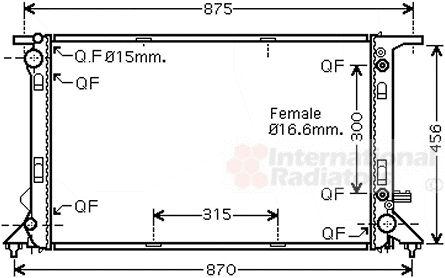 Radiateur, refroidissement du moteur - VAN WEZEL - 03002309