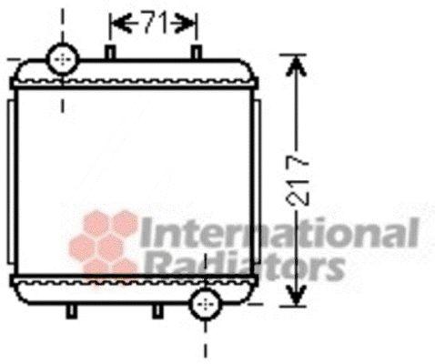 Radiateur, refroidissement du moteur - VAN WEZEL - 03002310