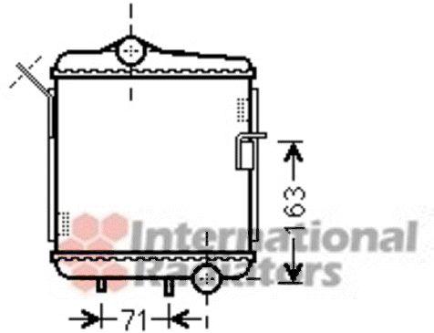 Radiateur, refroidissement du moteur - VAN WEZEL - 03002311