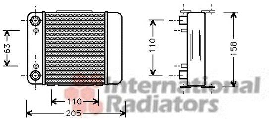 Radiateur d'huile - VAN WEZEL - 03003147