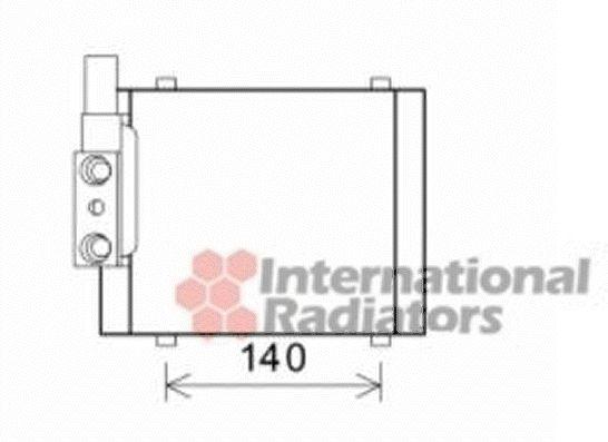 Radiateur d'huile - VAN WEZEL - 03003325
