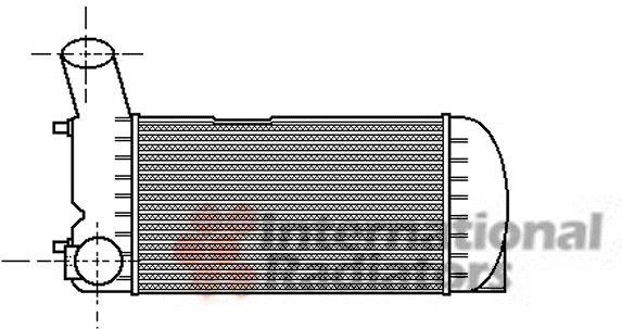 Intercooler, échangeur - VAN WEZEL - 03004094