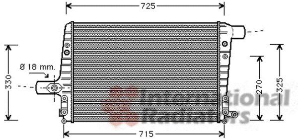 Intercooler, échangeur - VWA - 88VWA03004136