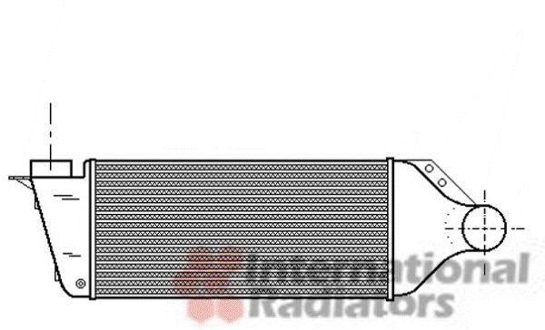 Intercooler, échangeur - VAN WEZEL - 03004174