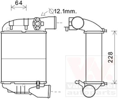 Intercooler, échangeur - VAN WEZEL - 03004186