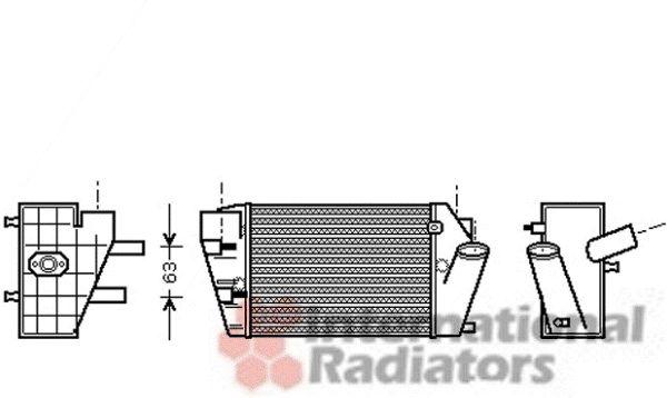 Intercooler, échangeur - VWA - 88VWA03004187