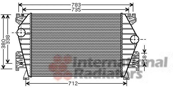 Intercooler, échangeur - VAN WEZEL - 03004191