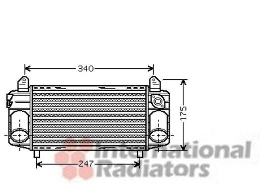 Intercooler, échangeur - VAN WEZEL - 03004192