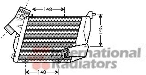 Intercooler, échangeur - VAN WEZEL - 03004216