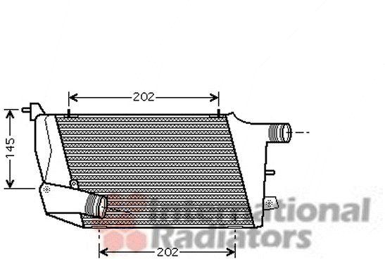 Intercooler, échangeur - VAN WEZEL - 03004217