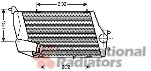 Intercooler, échangeur - VAN WEZEL - 03004219
