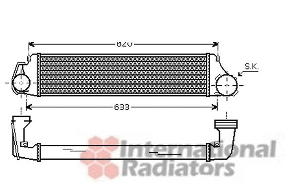 Intercooler, échangeur - VWA - 88VWA03004224